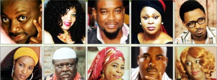Nollywood stars pose